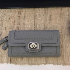 NWT Coach Pinnacle Leather Slim Envelope Wallet